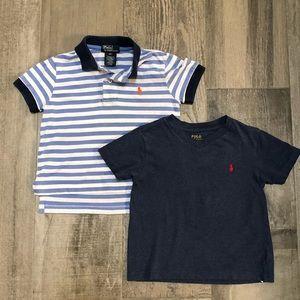 Toddler Boy's Sharp Polo by Ralph Lauren Shirt Set